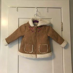 Little Me baby girl's Sherpa jacket